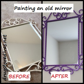 Update your space by updating the paint on a few key items. Find out how to paint an old mirror in this post from www.drugstoredivas.net.