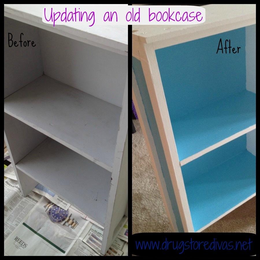 DIY Updating An Old Bookshelf Clark Kensington Paint Review