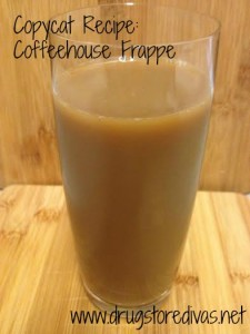 Love frappes? Check out this Coffeehouse Frappe recipe from www.drugstoredivas.net.