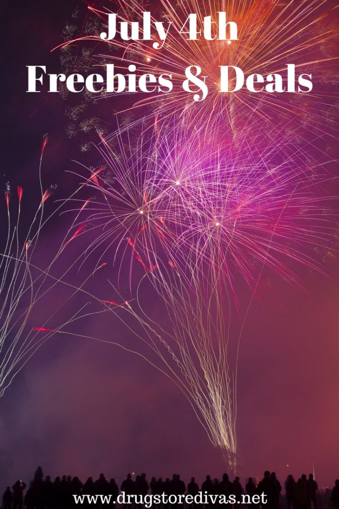 Celebrate July 4th with this list of  freebies and deals from www.drugstoredivas.net.