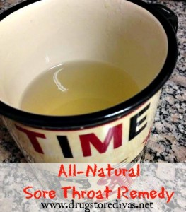 Do you have a sore throat, but don't want to take aspirin and flu medicine? Instead, make this all-natural sore throat remedy.