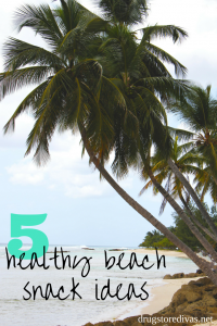 Planning a trip to the beach? Don't pack potato chips! Check out these 5 Healthy Beach Snacks that you can pack instead (from www.drugstoredivas.net).
