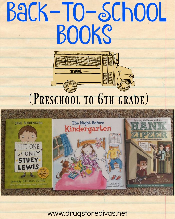 Kids heading back to school? Keep them interested in reading by shopping this back-to-school book list. It's separated by grade level (preschool to 6th grade).