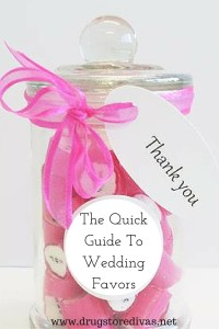 The Quick Guide To Wedding Favors