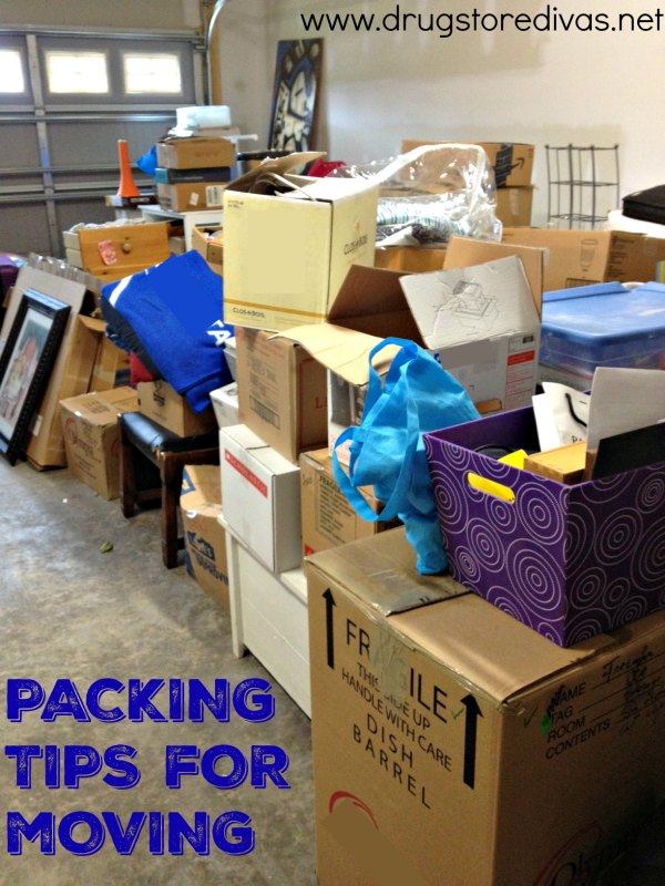 Getting ready to move? Check out these packing tips for moving from www.drugstoredivas.net.