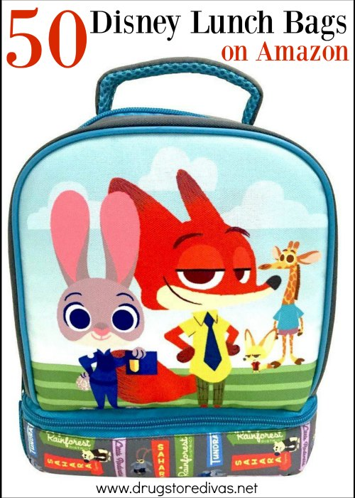 Get ready for back to school with these 50 Disney Lunch Bags on Amazon from www.drugstoredivas.net. You're sure to find one your kids will love.