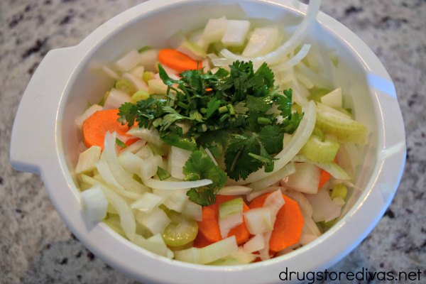 #ad It's the time of year for chicken soup. Don't slave over the stove! Make this slow cooker chicken soup from www.drugstoredivas.net instead. #HealthySavings