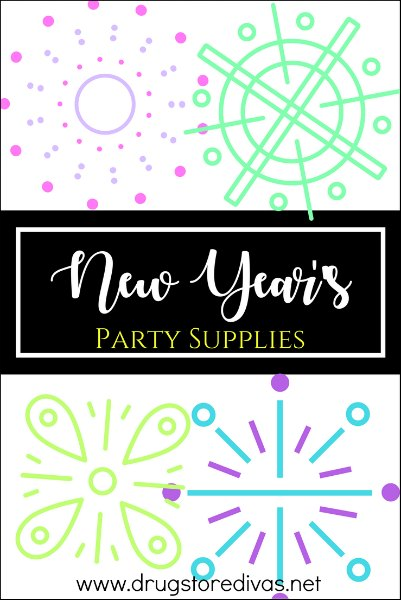 Get ready for your party with this list of New Year's Party Supplies from www.drugstoredivas.net.