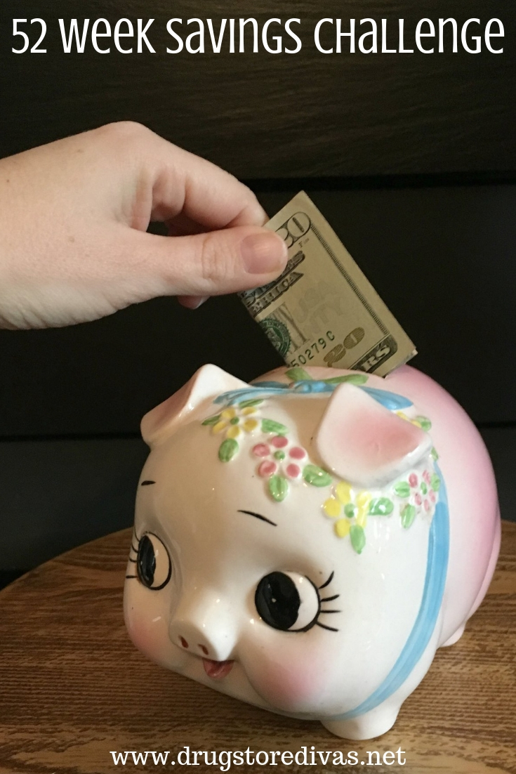 Learn how to save with this 52 Week Savings Challenge from www.drugstoredivas.net. There's a reverse savings challenge as well.
