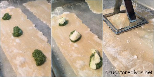 Looking for a tasty recipe? Check out this homemade kale pesto ravioli from www.drugstoredivas.net.