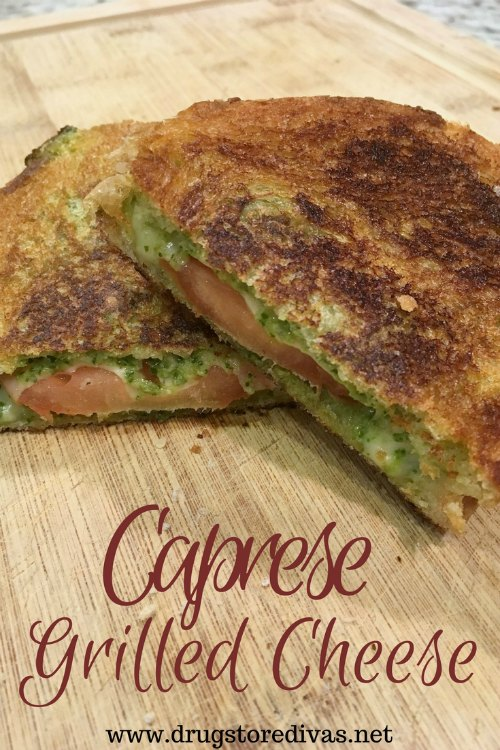 Celebrate National Grilled Cheese Month with this Caprese Grilled Cheese sandwich from www.drugstoredivas.net.