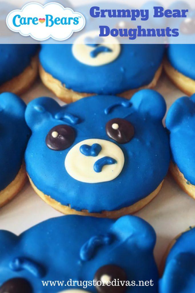 Love Care Bears? You'll LOVE these Care Bear Grumpy Bear doughnuts on www.drugstoredivas.net.