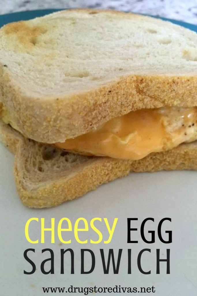 Step up your lunch with this tasty cheesy egg sandwich from www.drugstoredivas.net.