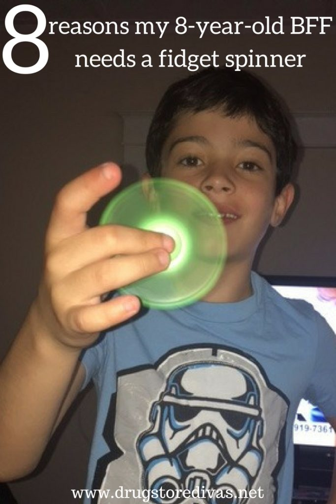 Wondering why kids need fidget spinners? Find out 8 reasons why my 8-year-old BFF needs a fidget spinner on www.drugstoredivas.net.