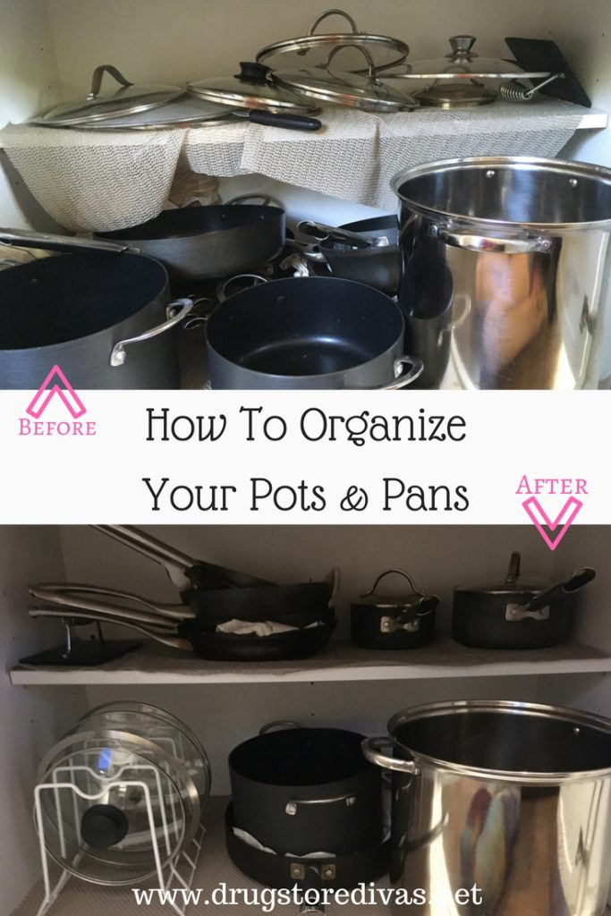 How To Organize Your Pots And Pans  Drugstore Divas. Shelving Ideas Living Room. Kitchen Living Room Layout Ideas. Living Room Nottingham. Living Room Shelves. Flat Living Room Designs. Furniture Layout For Living Room With Fireplace. Live Political Chat Rooms. Red Decoration For Living Room