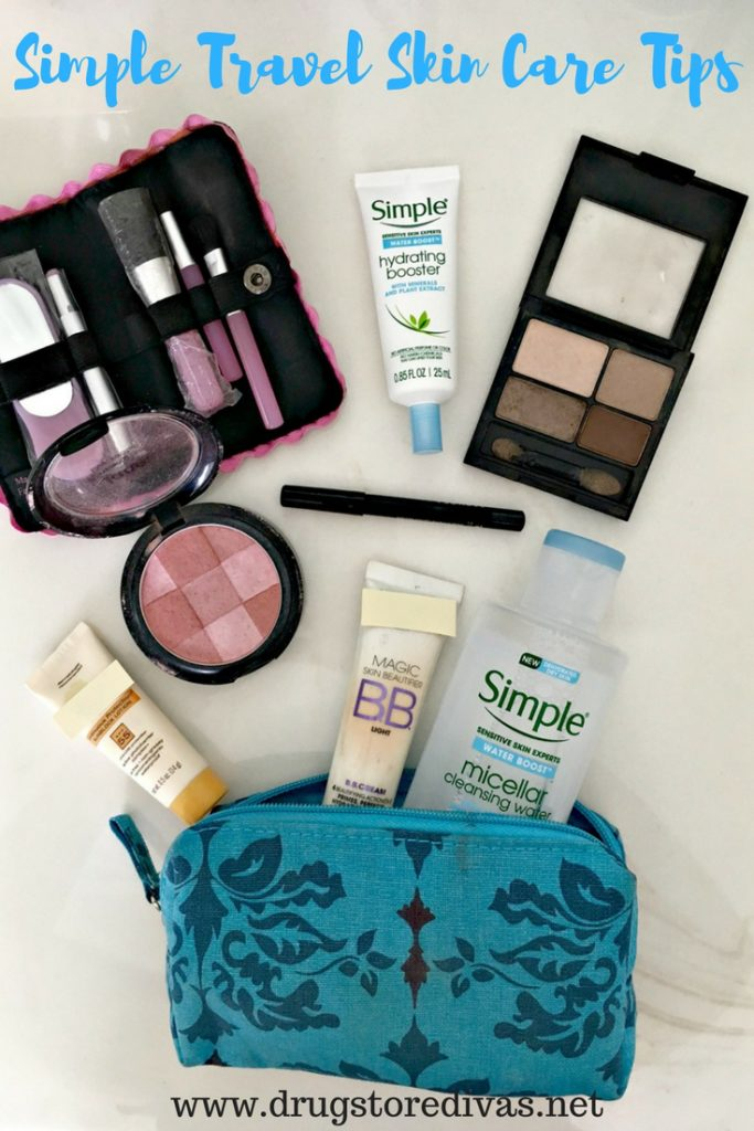#ad Get ready for your out of town trips with these Simple Travel Skin Care Tips from www.drugstoredivas.net. #SoakItIn #Walgreens