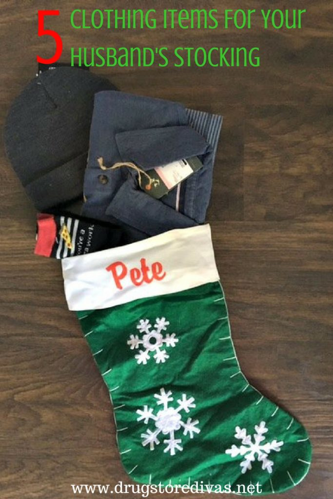 What are you putting in your husband's stocking this year? Check out this list of 5 Clothing Items For Your Husband's Stocking to help you decide. It's at www.drugstoredivas.net.