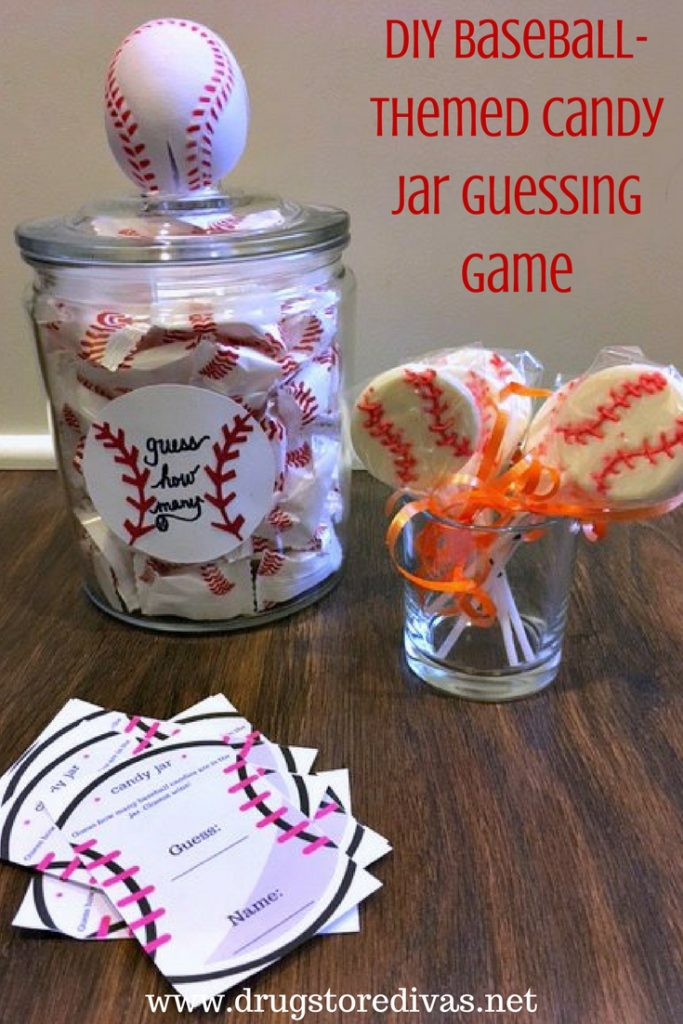 Diy Baseball Themed Candy Jar Guessing Game