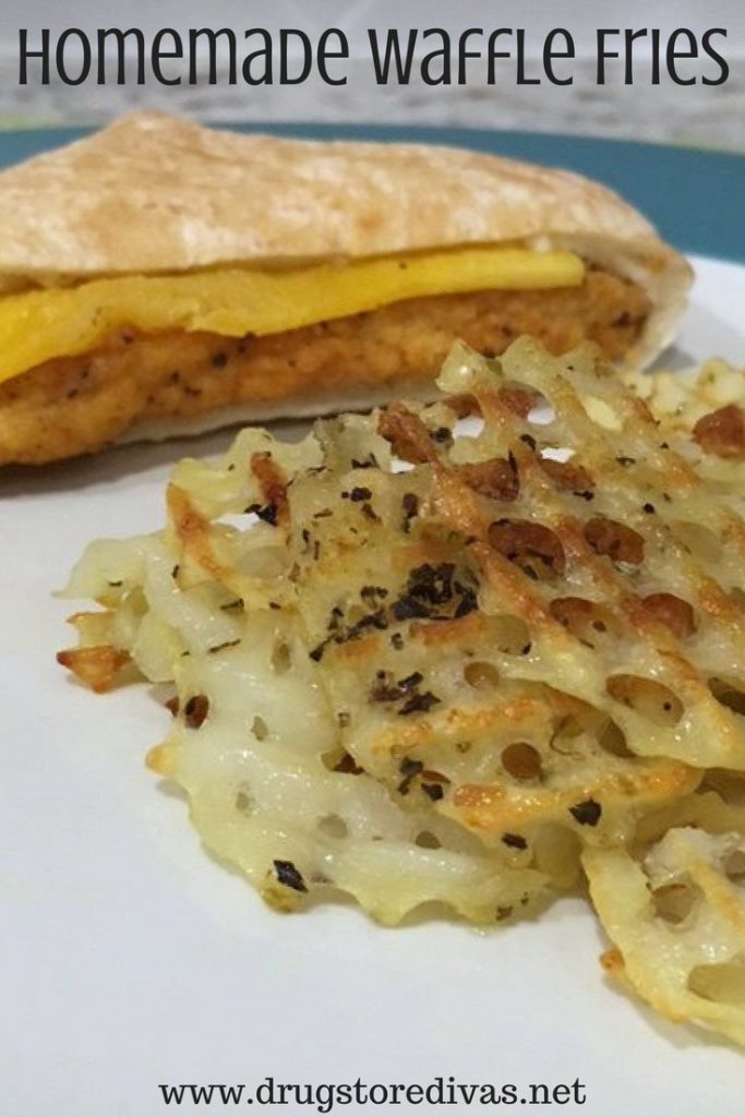 #ad Looking for a tasty and simple dinner? Make homemade waffle fries to go with Sandwich Bros sandwiches. Get the recipe at www.drugstoredivas.net.