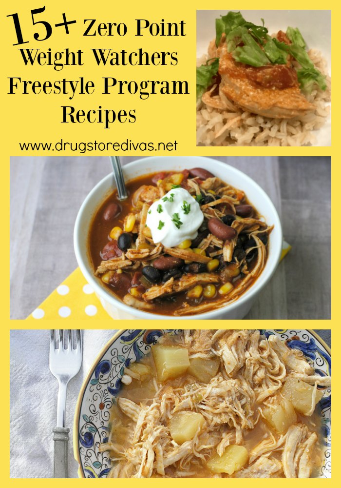 You can diet and still have delicious dinners. Check out these 15+ Zero Point Weight Watchers Freestyle Program Recipes put together by www.drugstoredivas.net.