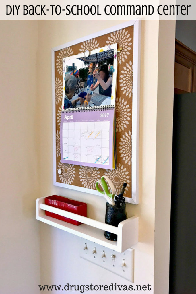Get ready for back to school with a DIY Back-To-School Command Center. Find out how to make one at www.drugstoredivas.net.