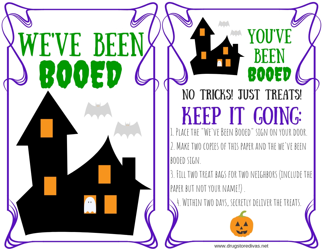 picture about You've Been Booed Free Printable identified as Youve Been Booed Package And Totally free Printable - Drugstore Divas