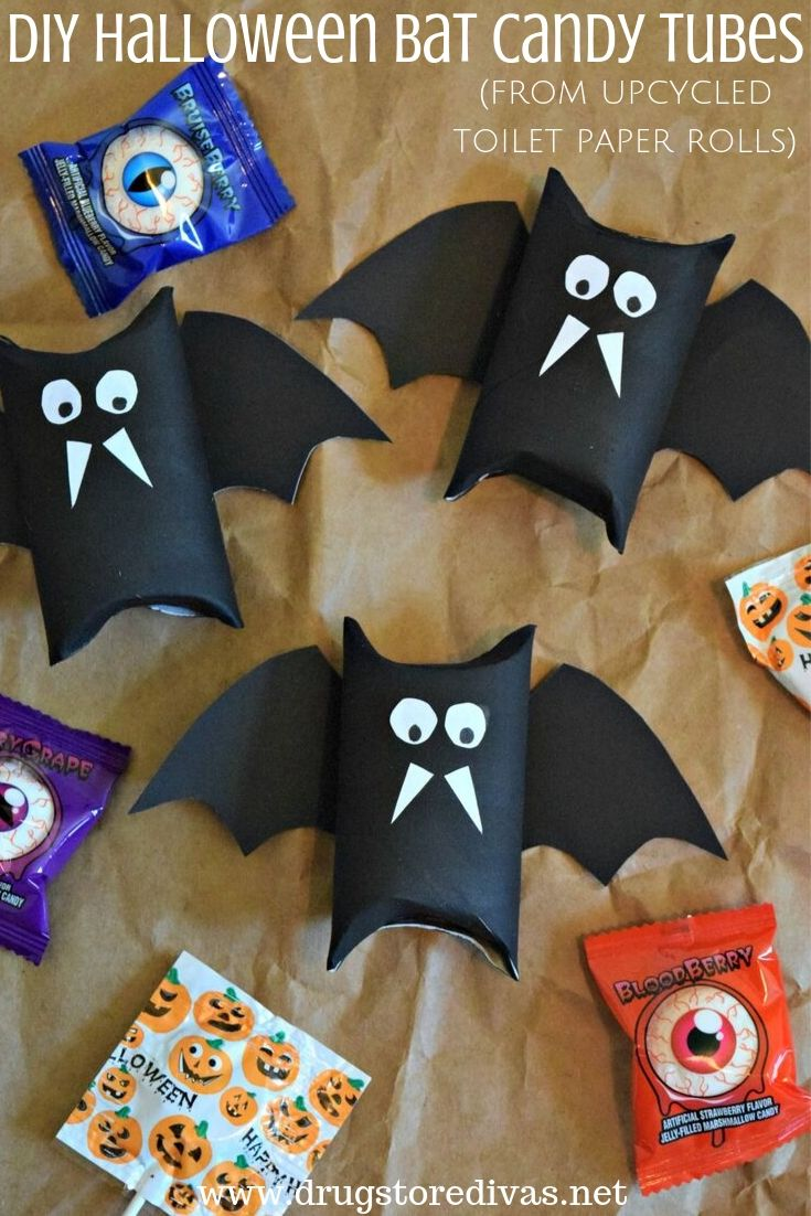 Diy Bat Candy S From Upcycled Toilet Paper