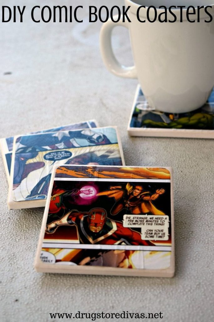 If you're looking for a great geek gift idea, these DIY Comic Book Coasters are perfect. Find out how to make them on www.drugstoredivas.net.