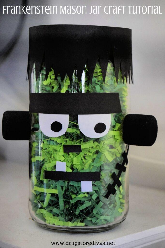 Frankenstein Mason Jar Craft.